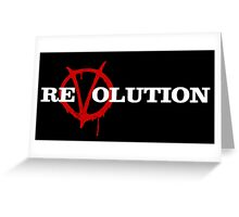 ReVolution V for Vendetta Greeting Card