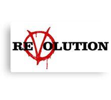ReVolution V for Vendetta Canvas Print