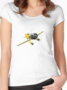 Retro racing airplane Women's Fitted Scoop T-Shirt