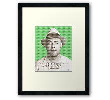 Machine Gun Kelly Mug Shot - Green Framed Print