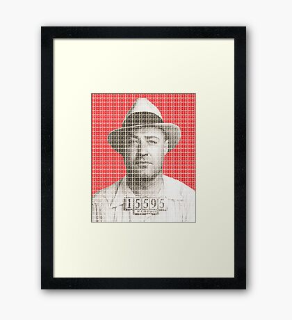 Machine Gun Kelly Mug Shot - Red Framed Print