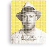 Machine Gun Kelly Mug Shot - Yellow Canvas Print