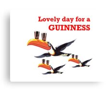 LOVELY DAY FOR A GIUNNESS THREE TOUCANS Canvas Print