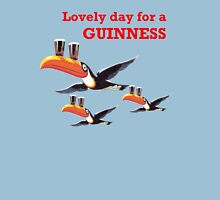 LOVELY DAY FOR A GIUNNESS THREE TOUCANS Womens Fitted T-Shirt