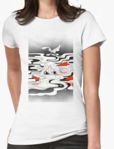 Red paper plane Womens Fitted T-Shirt