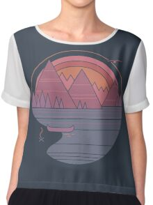 The Mountains Are Calling Chiffon Top