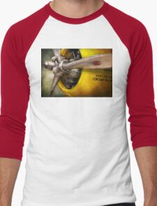 Plane - Pilot - Prop - Twin Wasp Men's Baseball ¾ T-Shirt