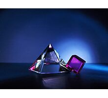 A Purple Cube With A Glass Pyramid Photographic Print