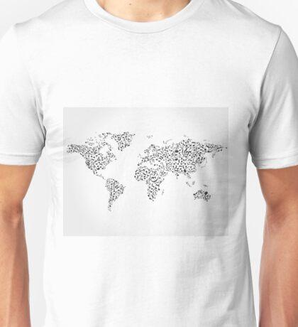 Note map Unisex T-Shirt