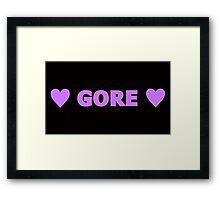 Gore 3 Framed Print