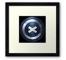 CAPTAIN SCOTLAND - Captain America inspired Scottish shield Framed Print