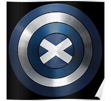 CAPTAIN SCOTLAND - Captain America inspired Scottish shield Poster