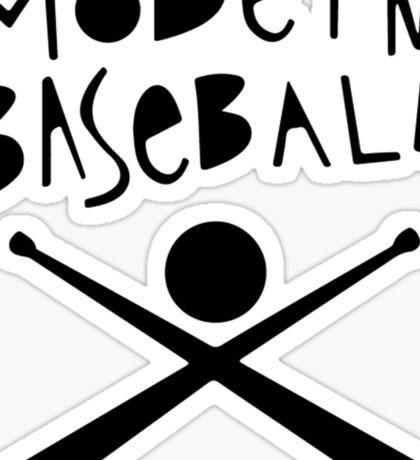 Modern Baseball // Black Sticker