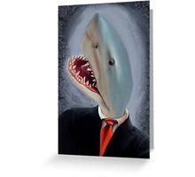 Mr. Shark Head Greeting Card