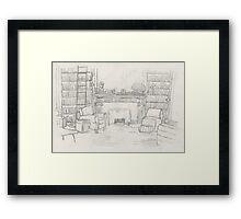 The Brownstone Framed Print