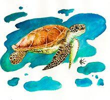Sea Turtle by Kyra Kalageorgi