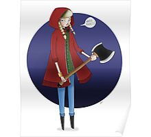 Red Riding Hoodie. Poster