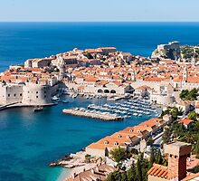 Azure Water and Old Town by TomGreenPhotos
