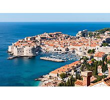 Azure Water and Old Town Photographic Print