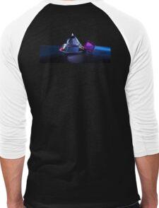 A Purple Cube With A Glass Pyramid Men's Baseball ¾ T-Shirt