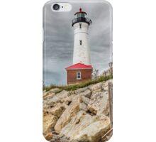 Dark Day at Crisp Point Lighthouse iPhone Case/Skin