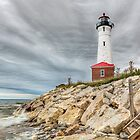Dark Day at Crisp Point Lighthouse by Kenneth Keifer