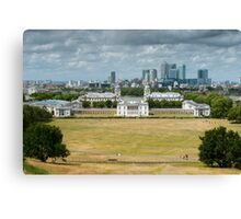 Greenwich and Canary Wharf Canvas Print