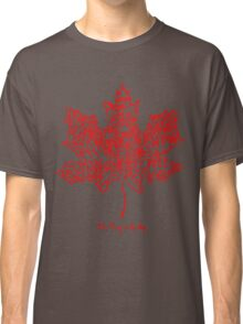 THE TRAGICALLY HIP - tour 2016 typography red edition Classic T-Shirt