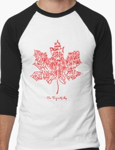 THE TRAGICALLY HIP - tour 2016 typography red edition Men's Baseball ¾ T-Shirt