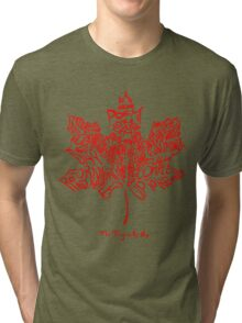 THE TRAGICALLY HIP - tour 2016 typography red edition Tri-blend T-Shirt