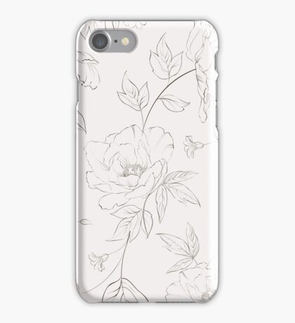 Peony seamless pattern for textile fabric iPhone Case/Skin