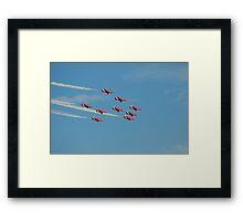 RAF Red Arrows Framed Print