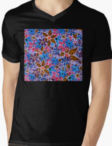 Trendy Floral Pattern Vintage Mens V-Neck T-Shirt