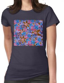 Trendy Floral Pattern Vintage Womens Fitted T-Shirt