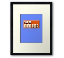 Super mario bros snes Framed Print