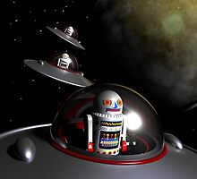 ROBOT - 7 Saucers by mdkgraphics