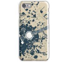 Retro a guitar iPhone Case/Skin