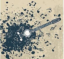 Retro a guitar Photographic Print