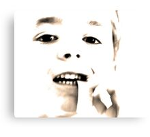 High Key Portraits - Boy Chewing Gum Canvas Print