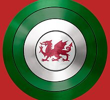 CAPTAIN WALES - Captain America inspired Welsh shield by infrablue