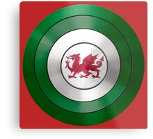 CAPTAIN WALES - Captain America inspired Welsh shield Metal Print