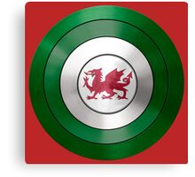 CAPTAIN WALES - Captain America inspired Welsh shield Canvas Print