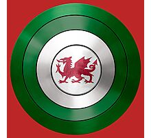 CAPTAIN WALES - Captain America inspired Welsh shield Photographic Print