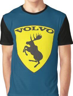 Volvo Prancing Moose Emblem Graphic T-Shirt