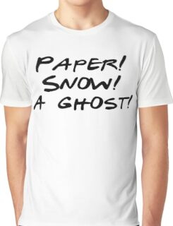Friends - Paper, Snow, A Ghost Graphic T-Shirt