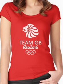 Rio 2016 Team GB Women's Fitted Scoop T-Shirt