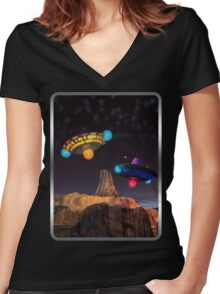CE3K UFOs V2 Women's Fitted V-Neck T-Shirt