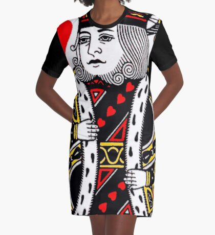 KING OF HEARTS-LARGE Graphic T-Shirt Dress