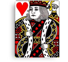 KING OF HEARTS-LARGE Canvas Print