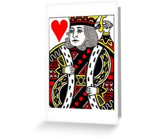 KING OF HEARTS-LARGE Greeting Card